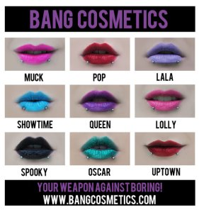 New Lipsticks by BANG Cosmetics